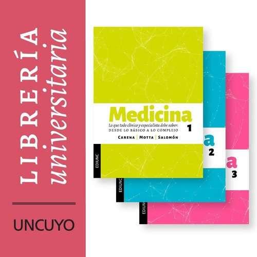 Medicina tres TOMOS - Carena, José. Motta, Ricardo.Salomón, Susana.