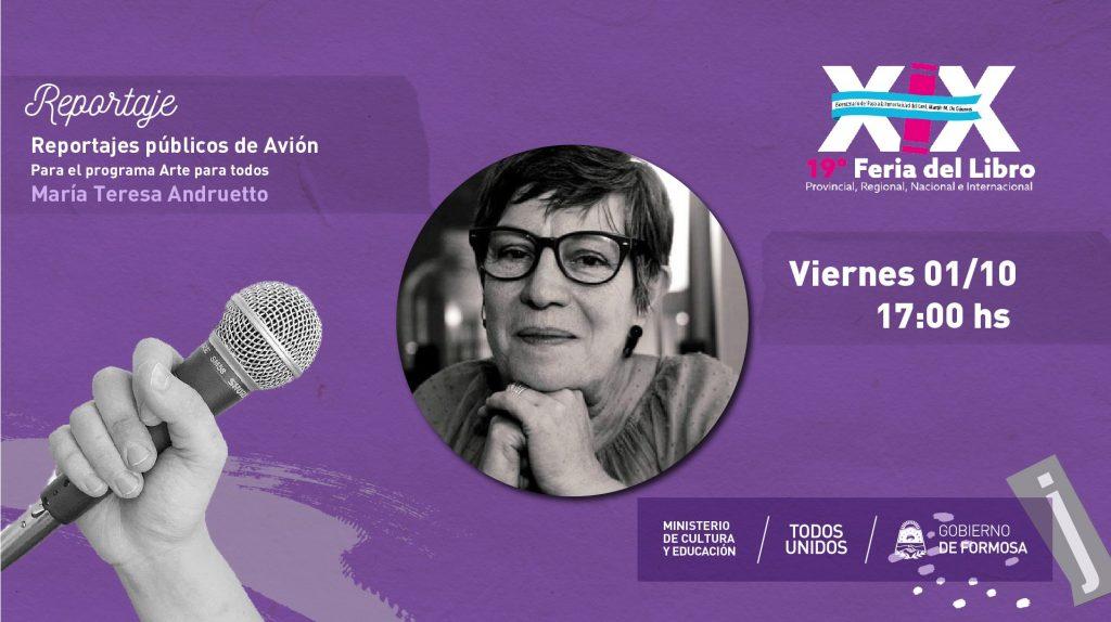 """""""Reportajes públicos de Avión para el programa Arte para todos María Teresa  Andruetto"""""""