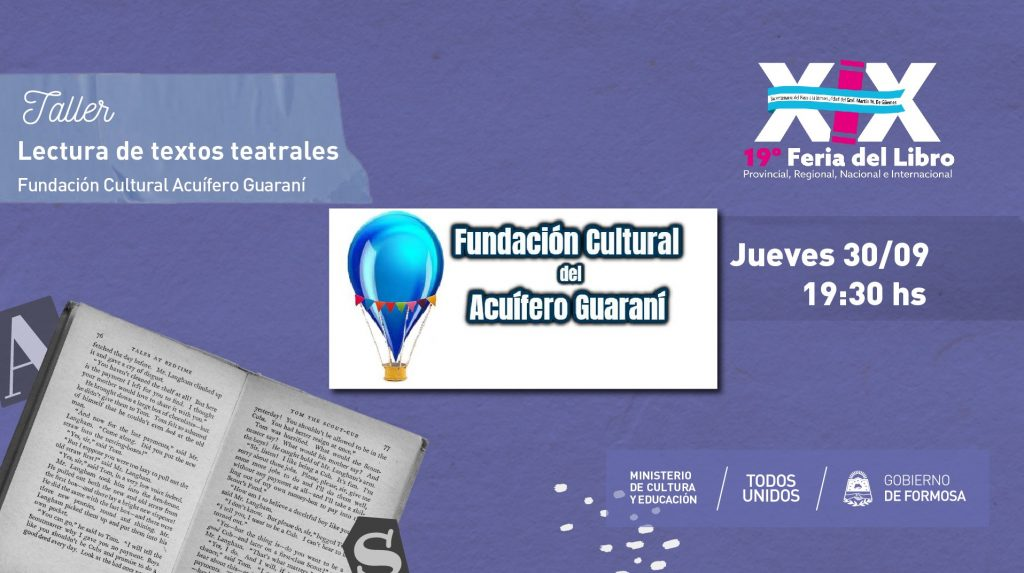 Lecturas de textos teatrales – Fundación Cultural Acuífero Guaraní