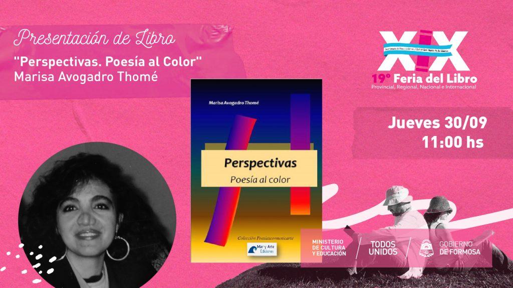 """""""Perspectivas. Poesía al Color"""" – """"Marisa Avogadro Thomé """""""