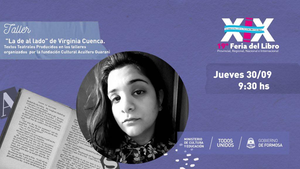 """""""La de al lado"""" de Virginia Cuenca. Textos Teatrales Producidos en los talleres organizados  por la fundación Cultural Acuìfero Guaranì –"""