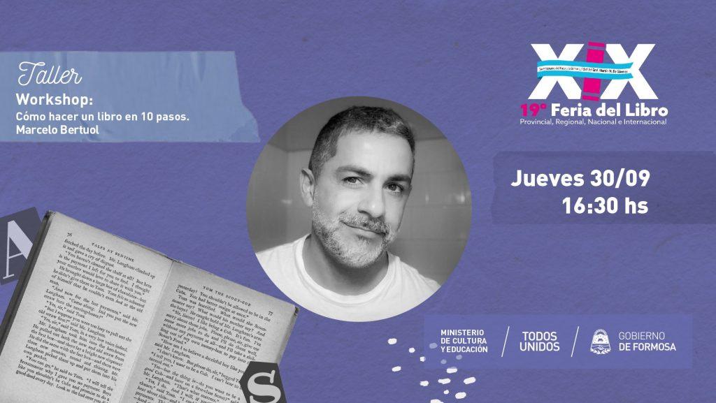 """Workshop """"Cómo hacer un libro en 10 pasos"""" – Marcelo Bertuol- Diseñador Editorial"""