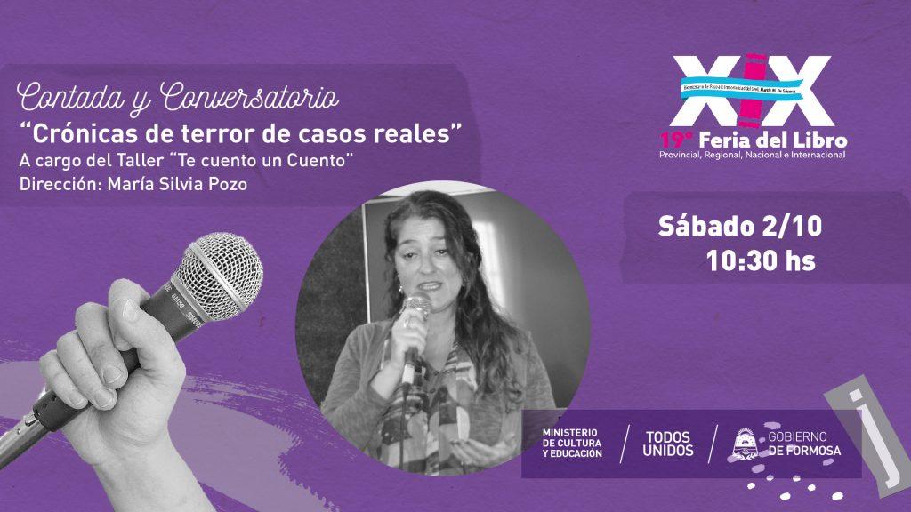 """Taller """"Crónicas de terror de casos reales""""- María Silvia Pozo – Biblioteca Cultural"""